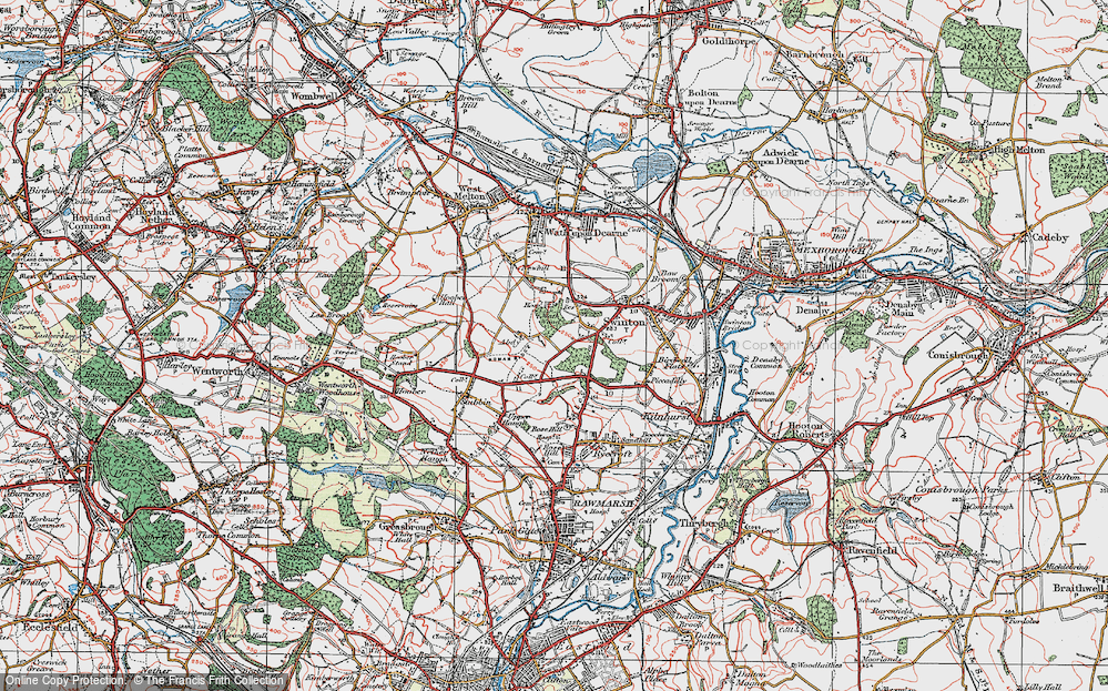Old Map of Abdy, 1924 in 1924