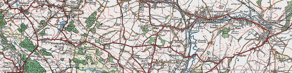 Old map of Abdy in 1924