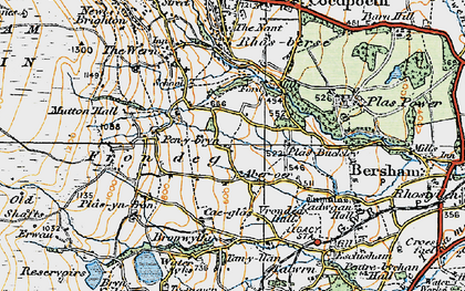 Old map of Aber-oer in 1921