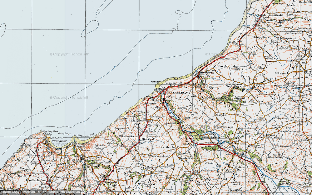 Old Map of Aberaeron, 1923 in 1923