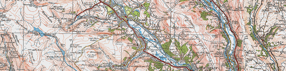 Old map of Aberaman in 1923