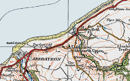 Old map of Afon Arth in 1923