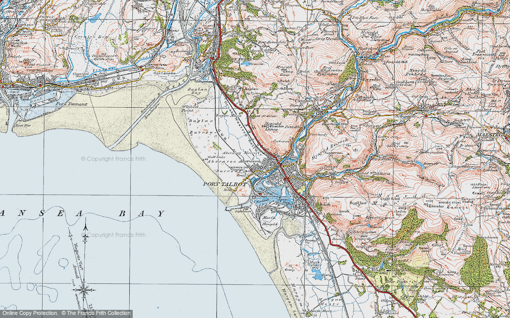 Old Map of Aberavon, 1922 in 1922