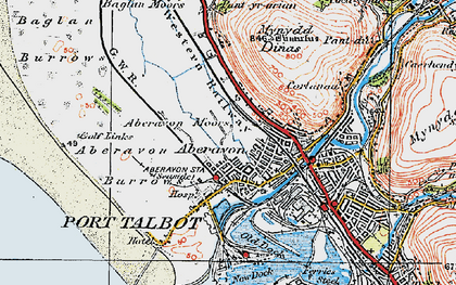 Old map of Aberavon in 1922