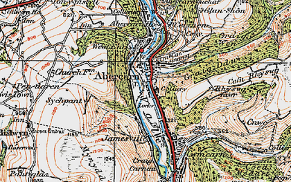 Old map of Abercarn in 1919