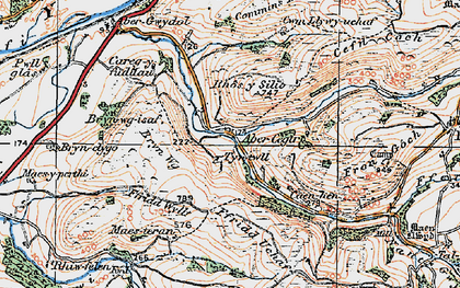Old map of Abercegir in 1921