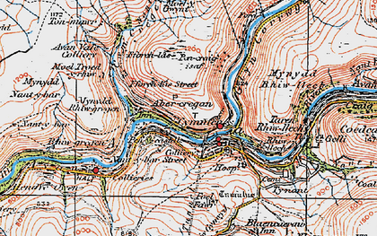 Old map of Abercregan in 1923