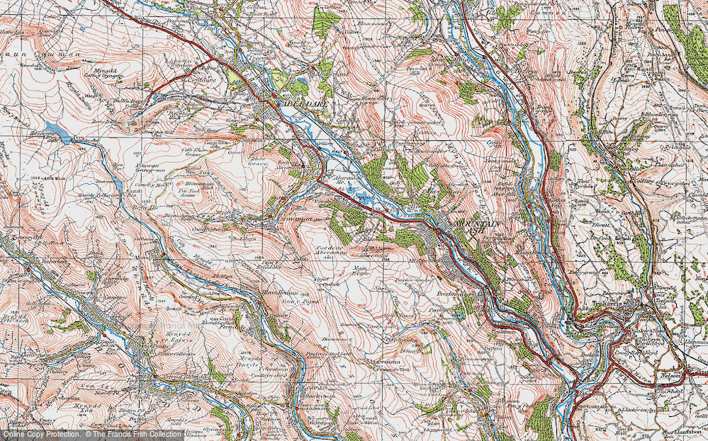 Old Map of Abercwmboi, 1923 in 1923