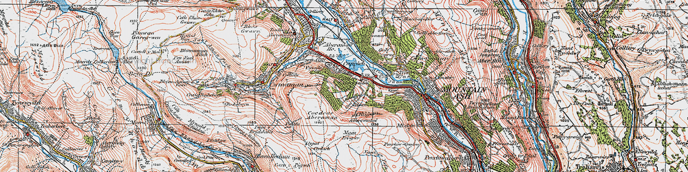Old map of Abercwmboi in 1923