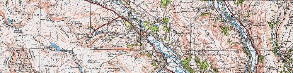 Old map of Aberdare in 1923
