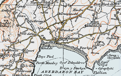 Old map of Ynys Gwylan-bâch in 1922