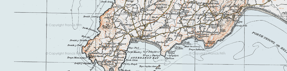 Old map of Ynys Gwylan-fawr in 1922