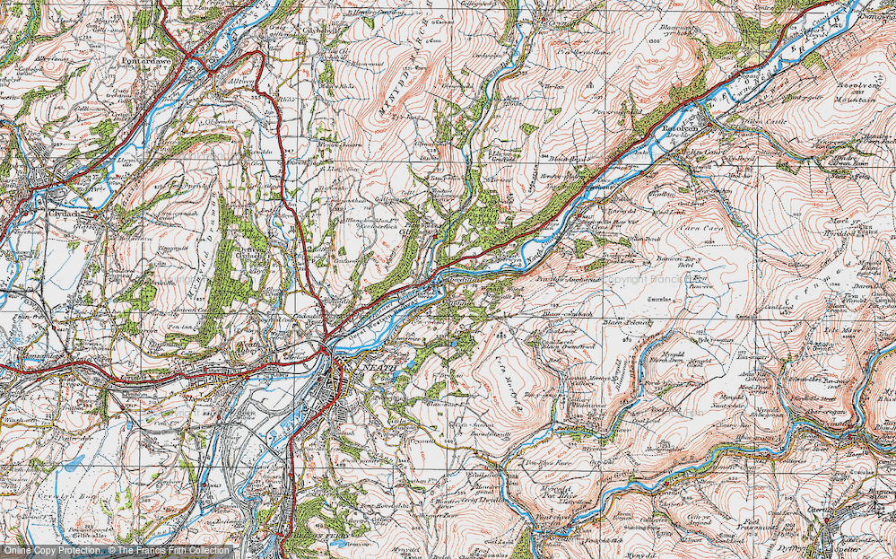 Old Map of Aberdulais, 1923 in 1923