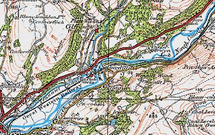 Old map of Ynys-y-gerwyn-fach in 1923