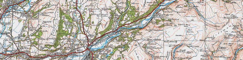 Old map of Aberdulais in 1923