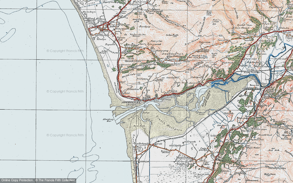 Old Map of Aberdyfi, 1922 in 1922