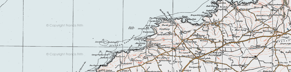 Old map of Abereiddy in 1922