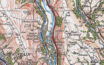 Old map of Aberfan in 1923