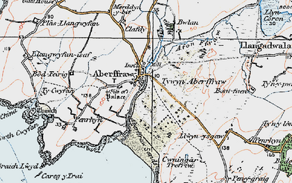 Old map of Aberffraw Bay in 1922