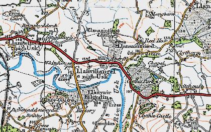 Old map of Aberffrwd in 1919