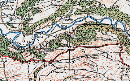 Old map of Aberffrwd in 1922
