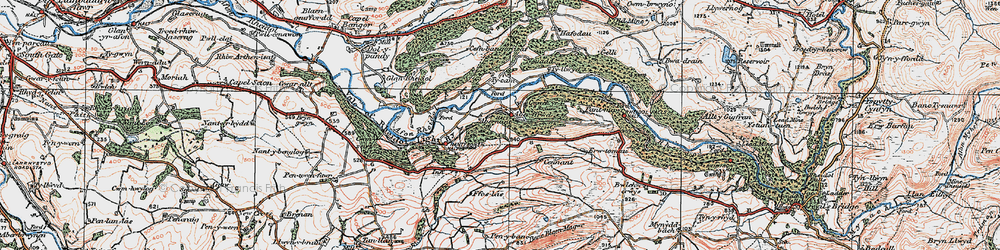 Old map of Abernant in 1922
