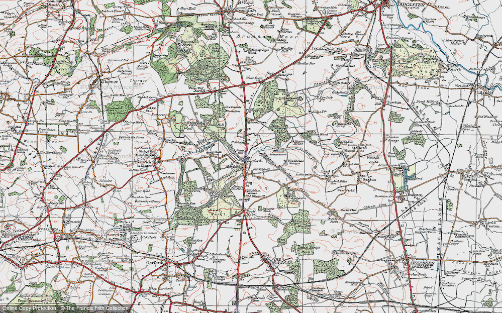 Old Map of Aberford, 1925 in 1925