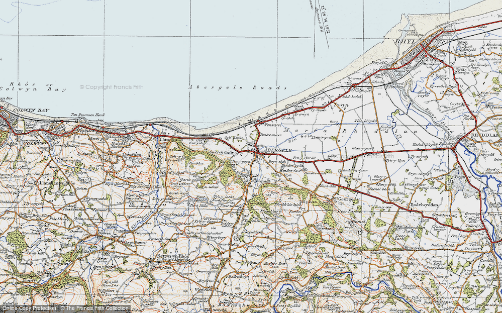 Old Map of Abergele, 1922 in 1922