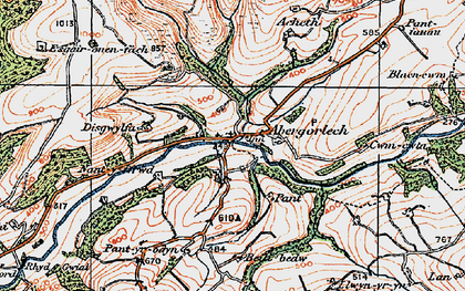 Old map of Acheth in 1923