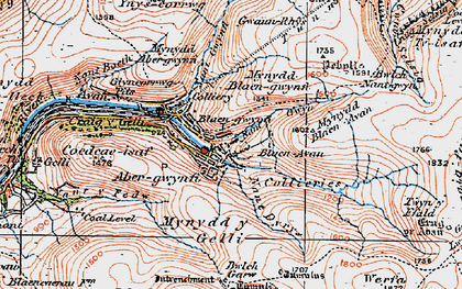 Old map of Abergwynfi in 1923