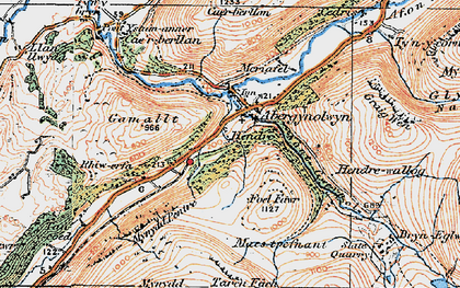 Old map of Abergynolwyn in 1922