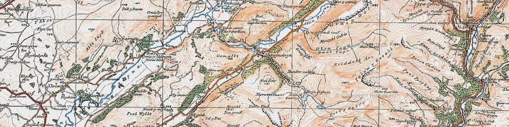 Old map of Abergynolwyn in 1922