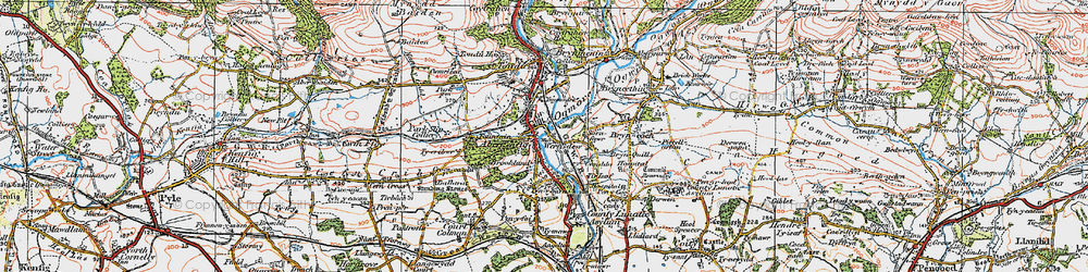 Old map of Aberkenfig in 1922