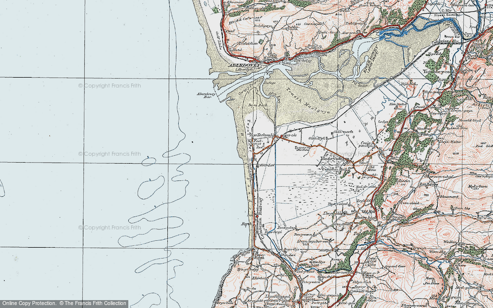 Old Map of Aberlerry, 1922 in 1922