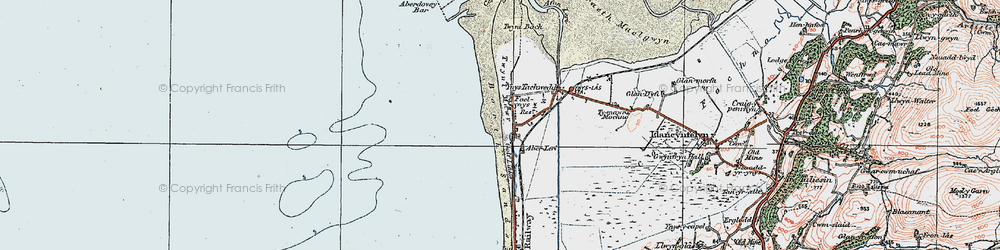 Old map of Aberlerry in 1922