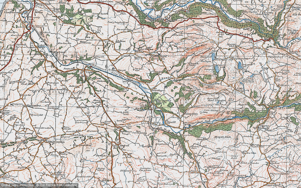 Old Map of Abermagwr, 1922 in 1922