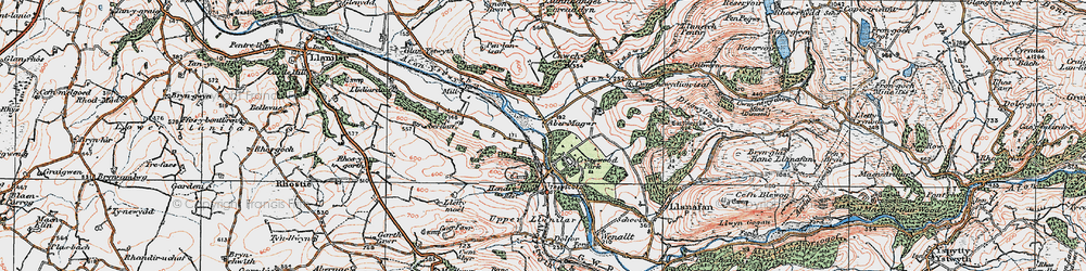 Old map of Abermagwr in 1922