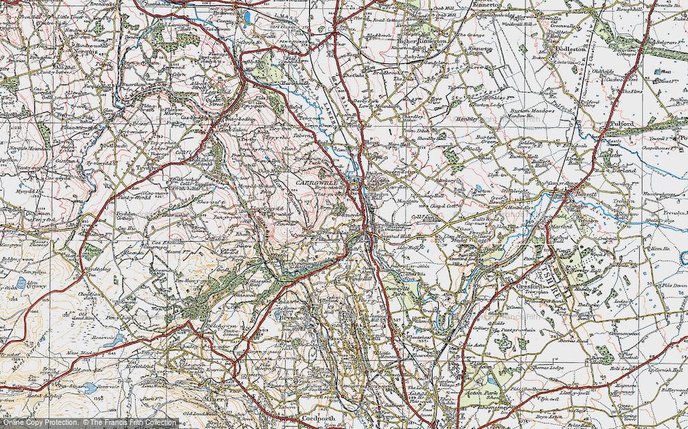 Old Map of Abermorddu, 1924 in 1924