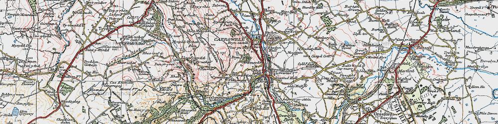 Old map of Abermorddu in 1924