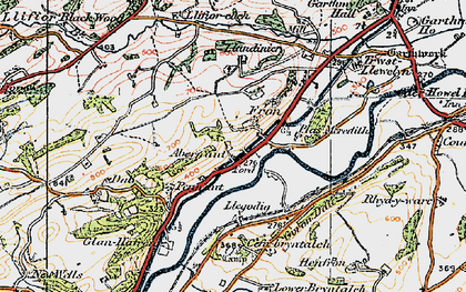 Old map of Abernant in 1921