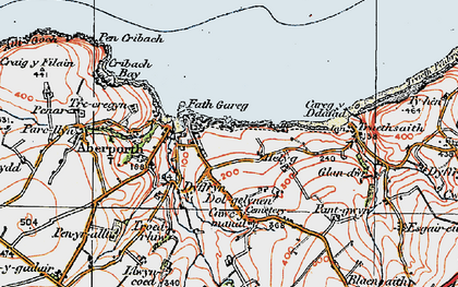 Old map of Aberporth in 1923