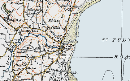 Old map of Abersoch in 1922