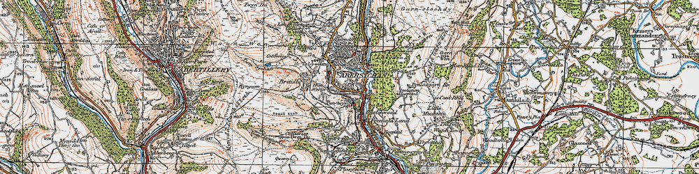 Old map of Abersychan in 1919