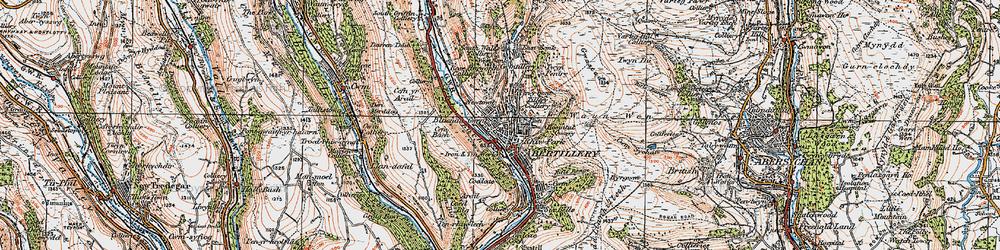 Old map of Abertillery/Abertyleri in 1919
