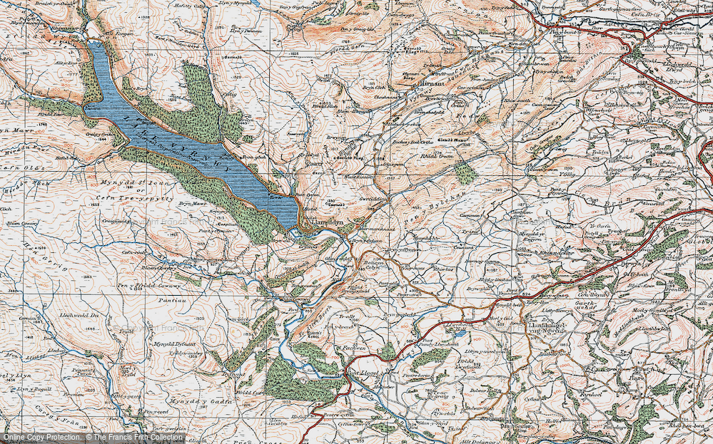 Old Map of Abertridwr, 1921 in 1921
