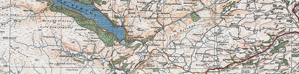 Old map of Aber-marchnant in 1921