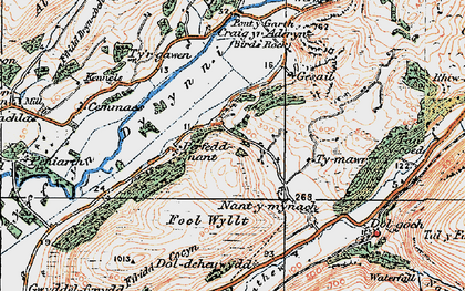 Old map of Abertrinant in 1922