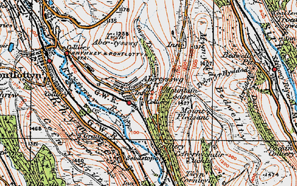 Old map of Abertysswg in 1919