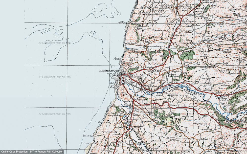 Old Map of Aberystwyth, 1922 in 1922