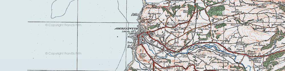 Old map of Aberystwyth in 1922